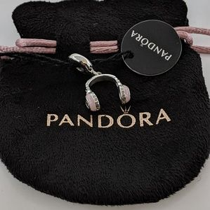 Pandora Headphones Dangle Charm Pink Enamel